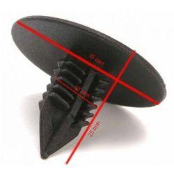 Kołek Spinka Samochodowa 10mm zderzaków tapicerek nadkoli osłon podwozia