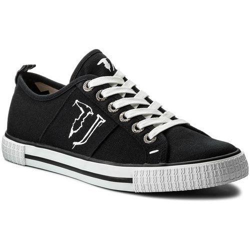 Męskie obuwie sportowe, Tenisówki TRUSSARDI JEANS - 77A00062 K299