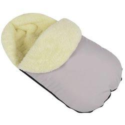 Ciepły śpiworek do wózka fotelika szpitala wełniany Szary