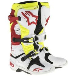 BUTY ALPINESTARS TECH 10 VENTED OFFROAD WHITE/RED/YEL