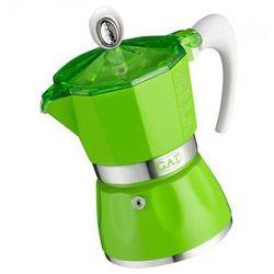 GAT Kawiarka do espresso na 3 filiżanki (2790000084) kolor zielony >> BOGATA OFERTA - SUPER PROMOCJE - DARMOWY TRANSPORT OD 99 ZŁ SPRAWDŹ!