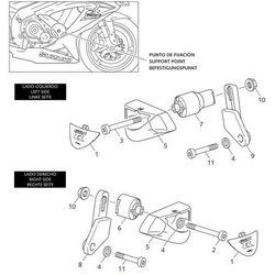Crash pady PUIG do Suzuki GSX-R 600/750 08-10 (wersja PRO)