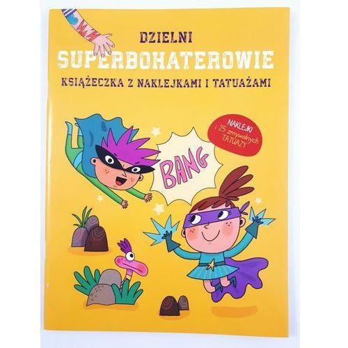 Książki dla dzieci, Książeczka z naklej. i tatuażami -Superbohaterowie (opr. broszurowa)