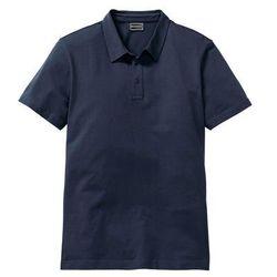Shirt polo ze stretchem Slim Fit bonprix ciemnoniebieski