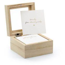Księga gości weselnych - pudełko na porady