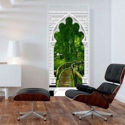 Fototapeta na drzwi - Tapeta na drzwi - Łuk gotycki i dżungla