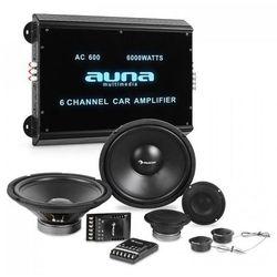 Auna CS-Comp-12 kompletny zestaw głośników samochodowych hi-fi 6-kanałowa końcówka mocy