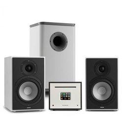 Numan Unison Reference 802 Edition, system stereo, wzmacniacz, UniSub, głośniki, biały/szary/czarny