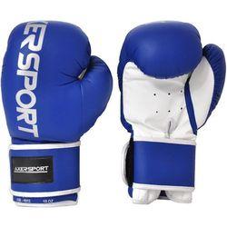 Rękawice bokserskie AXER SPORT A1331 Niebiesko-Biały (12 oz) + Zamów z DOSTAWĄ W PONIEDZIAŁEK!