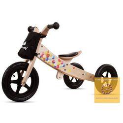 Darmowa dostawa kurierem od 300 zł! Rowerek biegowy drewniany 2w1 Twist Cubic Black Edition STREFADZIECIAKOW.PL