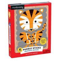 Puzzle, Puzzle Sticks: Geometric Animals/Skládačka: Zvířata (24 dílků) neuveden
