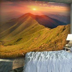 Fototapeta - Piękny jesienny krajobraz, Karpaty bogata chata
