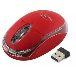 Bezprzewodowa mysz optyczna Titanum Condor Czerwona