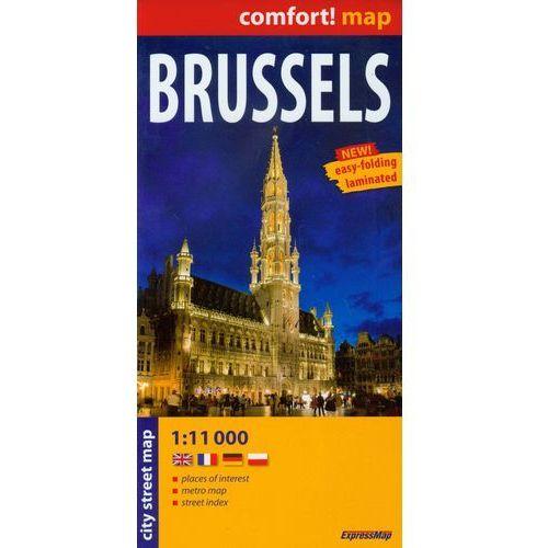 Mapy i atlasy turystyczne, Brussels laminowany plan miasta 1:11 000