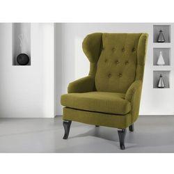 Fotel oliwkowy - tapicerowany - pikowany - do salonu - ALTA