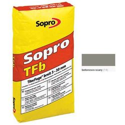 SOPRO TFb- fuga szeroka wysokowytrzymała, betonowo-szary, 25 kg