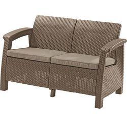 Sofa ogrodowa KETER 17197359 Corfu Love Seat cappuccino + DARMOWY TRANSPORT!