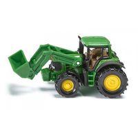Traktory dla dzieci, Zabawka SIKU Traktor John Deere z przednią ładowarką