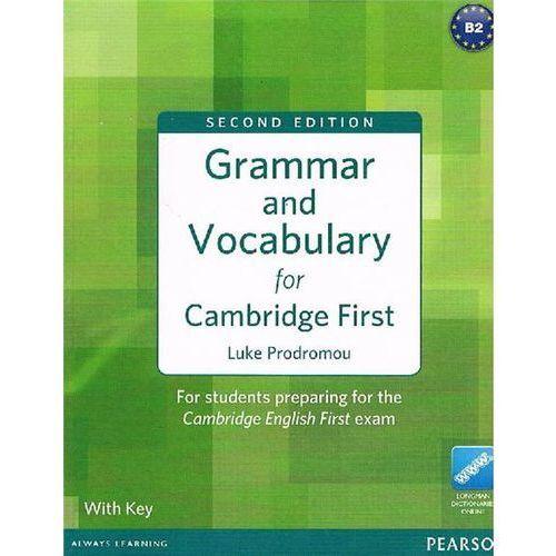 Książki do nauki języka, Grammar and vocabulary for Cambridge First with key (opr. miękka)