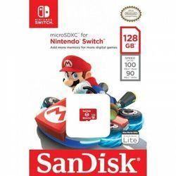 Karta pamięci MicroSDXC SanDisk NINTENDO SWITCH microSDXC 128GB 100/90 MB/s A1 C10 V30 UHS-I U3
