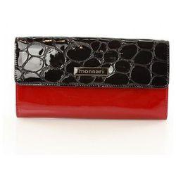 Elegancki skórzany portfel damski 0724A Red - Monnari
