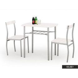 SELSEY Stół z krzesłami Parra biały