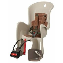 POLISPORT fotelik rowerowy Bilby, kremowy/brązowy