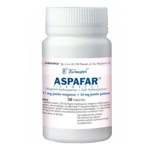 Leki na serce, Aspafar tabl.x 50