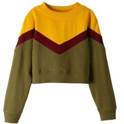 Krótka bluza dziewczęca bonprix żółto-czerwono-zielony