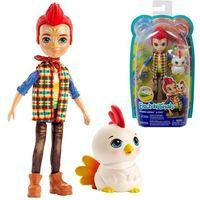 Lalki dla dzieci, ENCHANTIMALS Lalka ze zwierzątkiem Rooster Doll & Cluck kogut