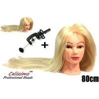 Pozostałe salony fryzjerskie i kosmetyczne, Główka Fryzjerska Głowa Włos Termiczny Iza80 Blond