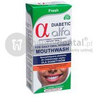 Płyny do płukania ust, ALFA DIABETIC Fresh 200ml - specjalistyczna płukanka dla DIABETYKÓW do stosowania bezpośrednio przed i po zabiegach implantacji lub ekstrakcji zęba