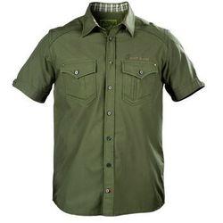 Koszula męska krótki rękaw Graff 822-KO-KR oliwka
