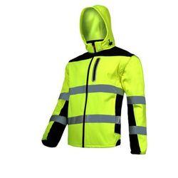 """LAHTI PRO L4091902 Kurtka SOFT-SHELL ostrzegawcza z odpinanymi rękawami, żółta, """"M"""", CE"""