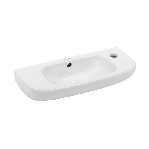 Umywalki, Umywalka Duravit D-Code 500x220 mm z otworem na baterię z prawej strony 07065000082