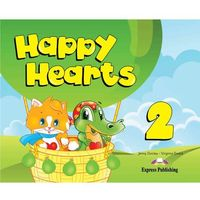 Książki do nauki języka, Happy Hearts 2 SB +multi-ROM EXPRESS PUBLISHING - Jenny Dooley, Virginia Evans (opr. broszurowa)