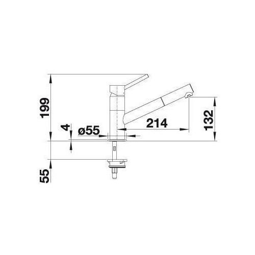Baterie do kuchni, Bateria Blanco Kano-s 525038
