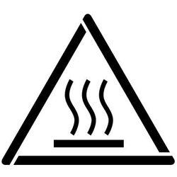 Szablon do malowania Znak ostrzeżenie przed gorącą powierzchnią GW017 - 17x20 cm