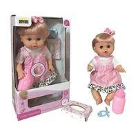 Lalki dla dzieci, Lalka agusia na baterie w sukience pudełko 02741