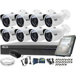 Zestaw do monitoringu 8 kamer BCS-TQ3200IR-E Rejestrator BCS-XVR0801-III Dysk 1TB