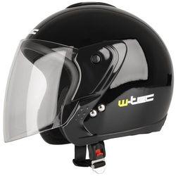 Kask motocyklowy otwarty W-TEC MAX617 na skuter, Czarny laserowe, XL (61-62)