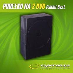 Esperanza PUDEŁKO NA 2 DVD 14mm BLACK 5 SZT. DARMOWA DOSTAWA DO 400 SALONÓW !!