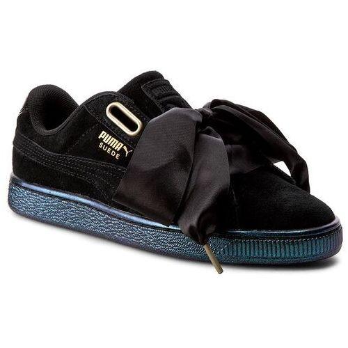 Półbuty damskie, Sneakersy PUMA - Suede Heart Satin Wn's 362714 03 Puma Black/Puma Black