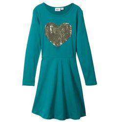 Sukienka z dżerseju bonprix kobaltowo-turkusowy