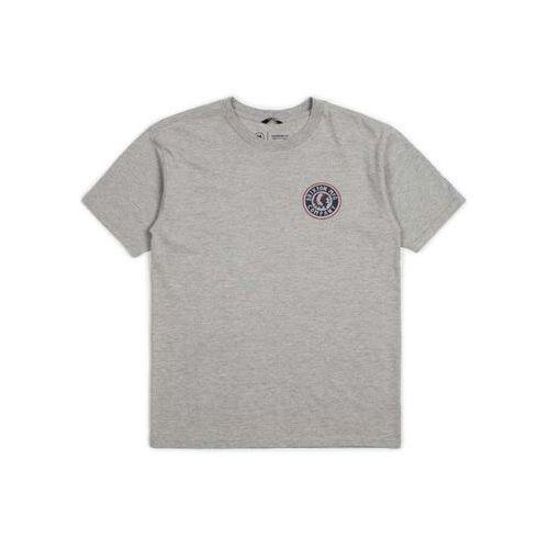 T-shirty męskie, koszulka BRIXTON - Rival Ii S/S Stt Heather Grey/Red (HTGRD) rozmiar: L