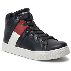Sneakersy TOMMY HILFIGER - High Top Lace-up Sneaker T3B4-30510-0739 D Blue 800