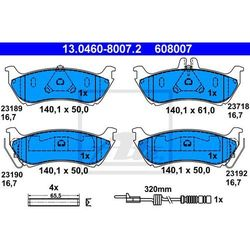 KLOCKI HAM ATE 13.0460-8007.2 MERCEDES M-KLASA ML230,ML270 CDI 98-05, ML320 98-02
