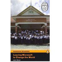 Książki do nauki języka, Leaving Microsoft To Change The World + CD. Penguin Readers Contemporary (opr. miękka)