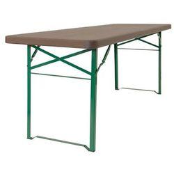 Składany stół ze stali malowanej 220 x 67 x 77 cm | 350kg max.