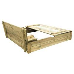 TRIGANO Drewniana piaskownica 120 ALIX z ławkami